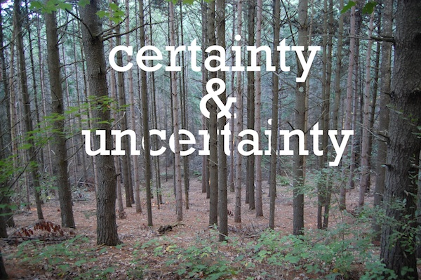 Pondering Certainty & Uncertainty Breast Cancer Authority Blog